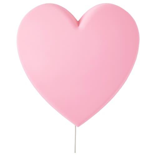 邬普里斯 LED壁灯 心形 粉红色 110 流明 27 厘米 8 厘米 27 厘米 2.0 米 1.6 瓦特