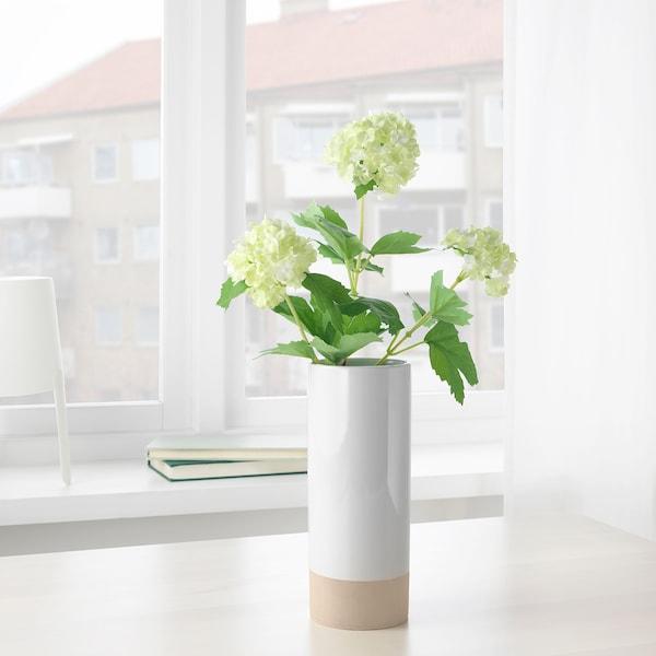 乌普瓦克塔 花瓶 白色/自然色 21 厘米