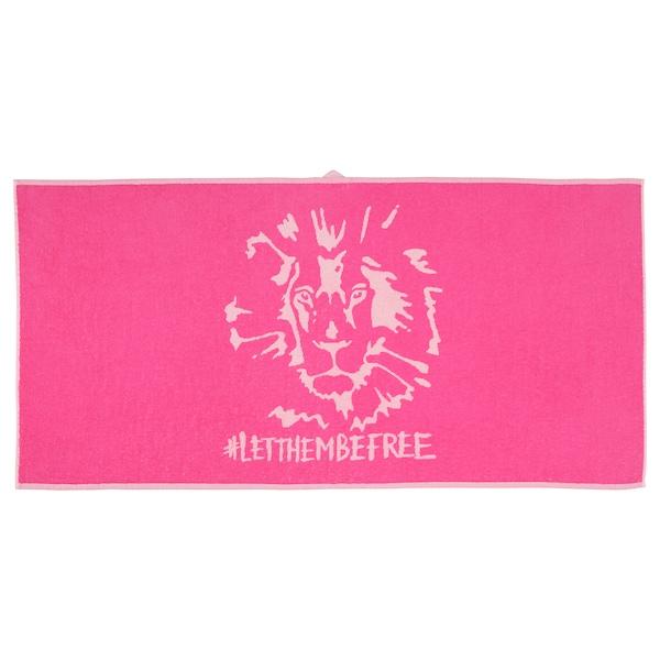 于尔斯库格 浴巾 狮子/粉红色 140 厘米 70 厘米