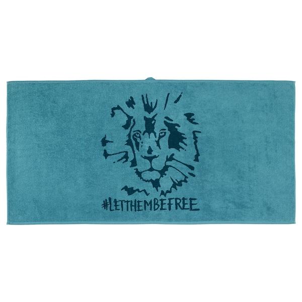 于尔斯库格 浴巾 狮子/蓝色 140 厘米 70 厘米