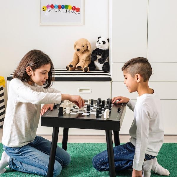 威尔莫 棋盘游戏桌 黑色 50 厘米 50 厘米 48 厘米