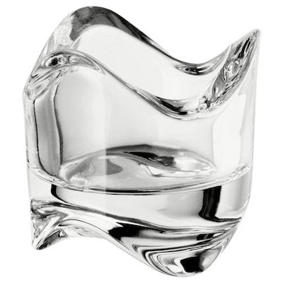 VÄSNAS 凡斯纳 小圆蜡烛托, 透明玻璃, 6 厘米