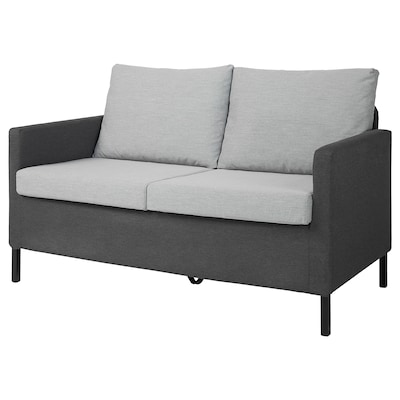VÄXTHOLM 维霍尔 双人沙发, 基尼萨 淡灰色/深灰色