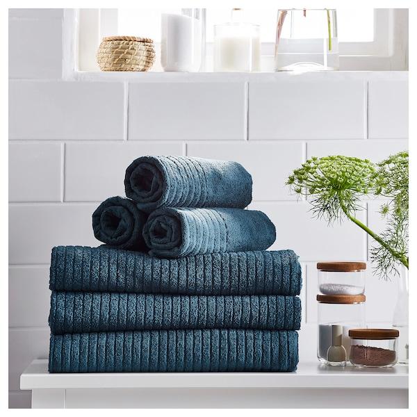VÅGSJÖN 沃格逊 毛巾, 深蓝色, 40x70 厘米