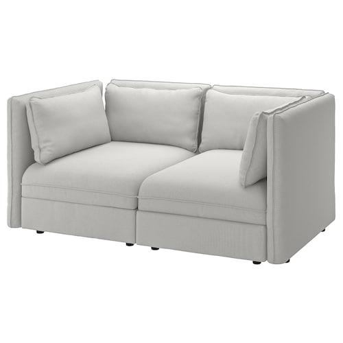 瓦伦图 2人沙发 欧斯塔 淡灰色 186 厘米 113 厘米 84 厘米 100 厘米 45 厘米