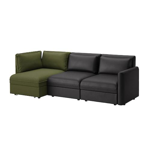 瓦伦图 三人沙发带沙发床 和储物/穆鲁姆/欧斯塔 黑/橄榄绿 266 厘米 84 厘米 93 厘米 113 厘米 80 厘米 100 厘米 45 厘米 80 厘米 200 厘米