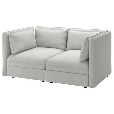 VALLENTUNA 瓦伦图 2人沙发, 欧斯塔 淡灰色
