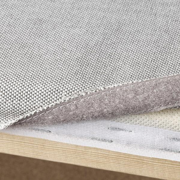 VALLENTUNA 瓦伦图 三人沙发带沙发床, 和储物/穆鲁姆/欧斯塔 白色/浅灰色