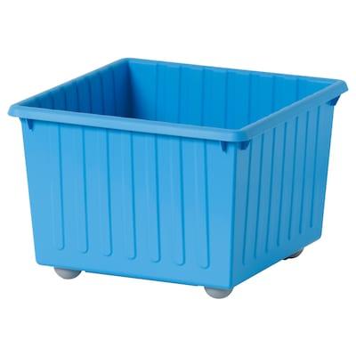VESSLA 维斯勒 附脚轮储物箱, 蓝色, 39x39 厘米
