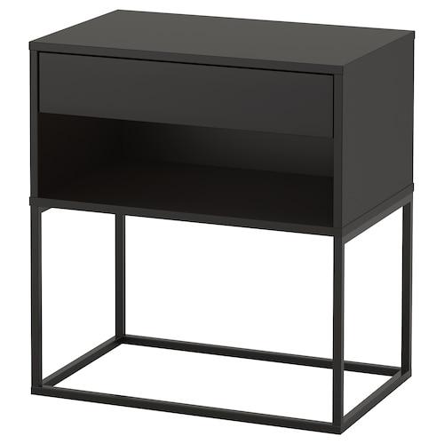 维哈默 床边桌 黑色 7 厘米 60 厘米 39 厘米 65 厘米 52 厘米 33 厘米