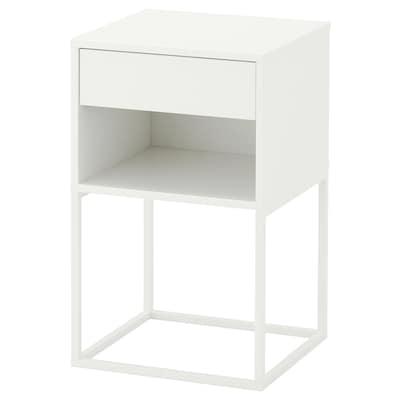 VIKHAMMER 维哈默 床头桌, 白色, 40x39 厘米