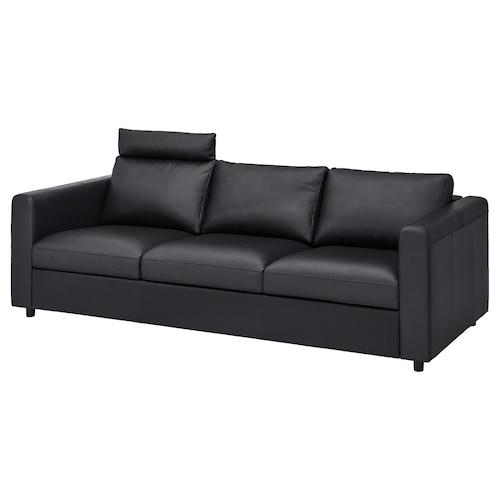 维姆勒 三人沙发 带头枕/哥兰/邦斯塔 黑色 100 厘米 80 厘米 241 厘米 98 厘米 4 厘米 15 厘米 65 厘米 211 厘米 55 厘米 45 厘米