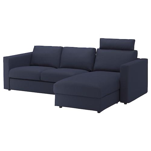 维姆勒 三人沙发 带贵妃椅 带头枕/欧斯塔 蓝黑色 103 厘米 83 厘米 68 厘米 164 厘米 252 厘米 98 厘米 125 厘米 6 厘米 15 厘米 68 厘米 222 厘米 55 厘米 48 厘米