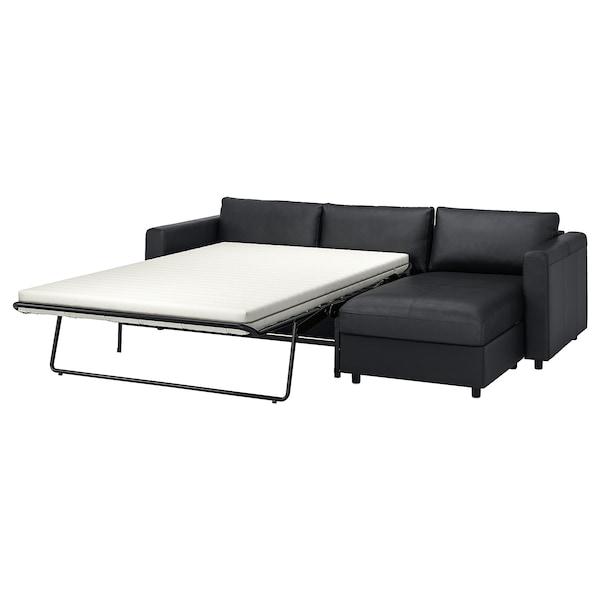 VIMLE 维姆勒 三人沙发床, 带贵妃椅/哥兰/邦斯塔 黑色