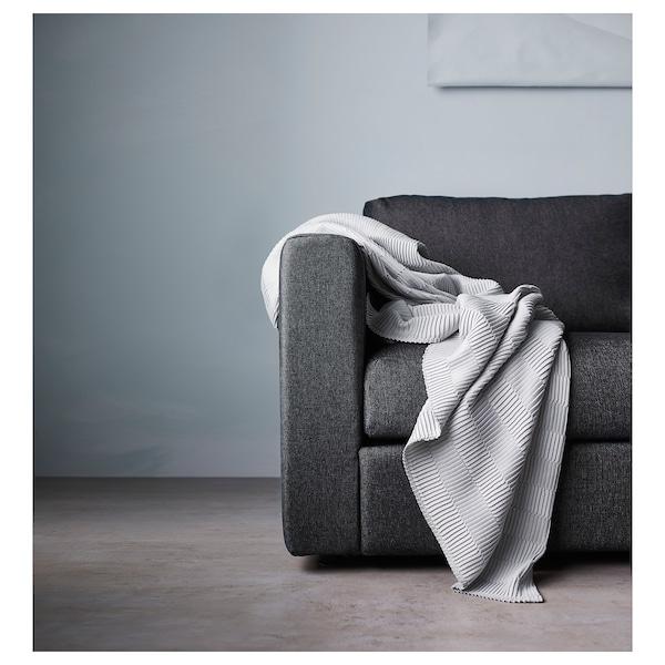 VIMLE 维姆勒 三人沙发, 带贵妃椅 带头枕/塔米拉 黑/灰