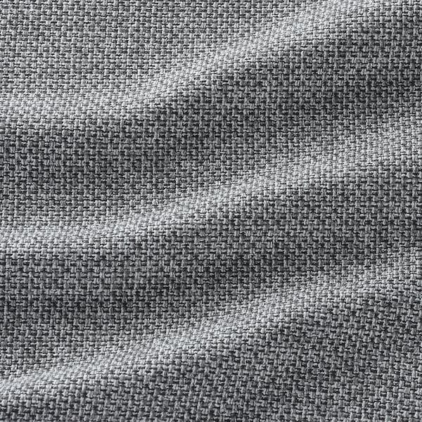 VIMLE 维姆勒 四人沙发, 带贵妃椅/雷德 灰色/黑色
