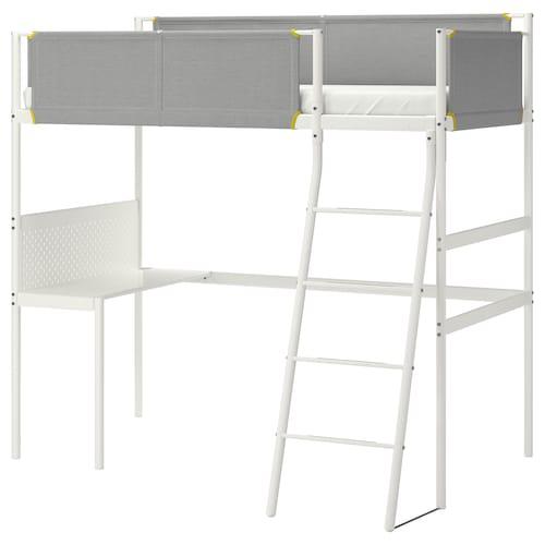 维特瓦尔 高架床带桌子 白色/淡灰色 45 厘米 134 厘米 207 厘米 97 厘米 95 厘米 73 厘米 195 厘米 146 厘米 100 公斤 200 厘米 90 厘米 13 厘米