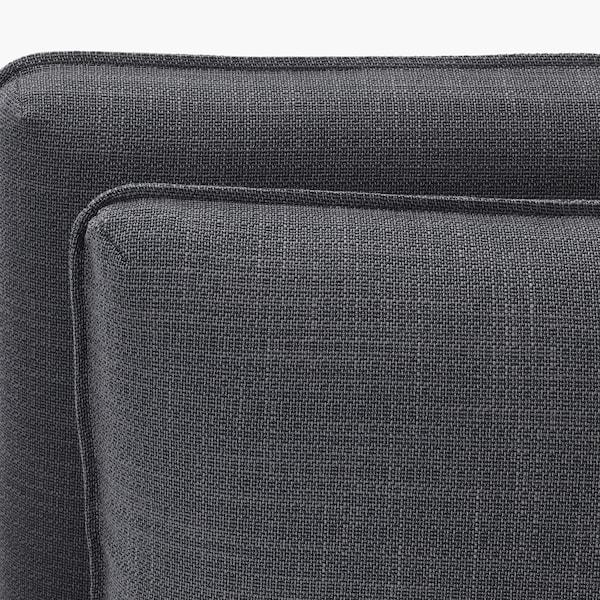瓦伦图 3人沙发, 带储物/西拉利德/穆鲁姆 深灰/黑色