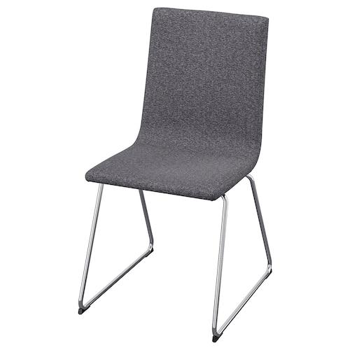 沃夫冈 椅子, 镀铬/刚纳瑞德 中灰色