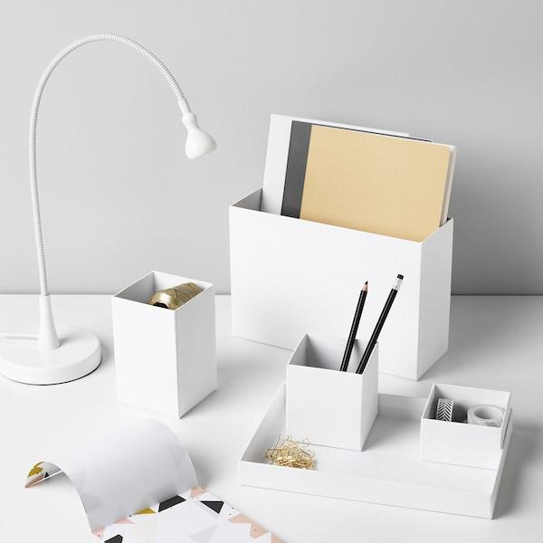 希纳 办公桌收纳件, 白色, 18x17 厘米