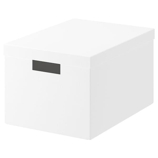 希纳 附盖储物盒, 白色, 25x35x20 厘米