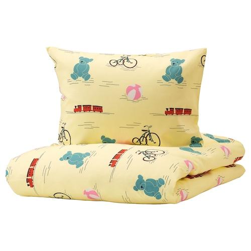 谢普海斯特 被套和枕套, 玩具图案 黄色, 150x200/50x80 厘米