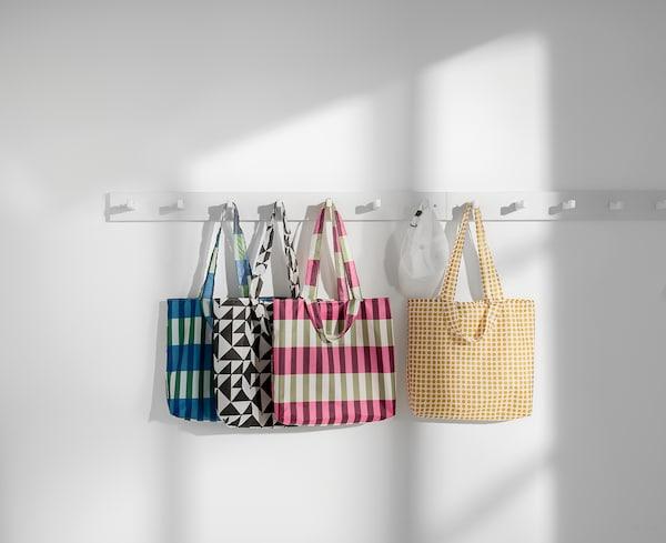 辛恩格 手提袋, 绿色/粉红色