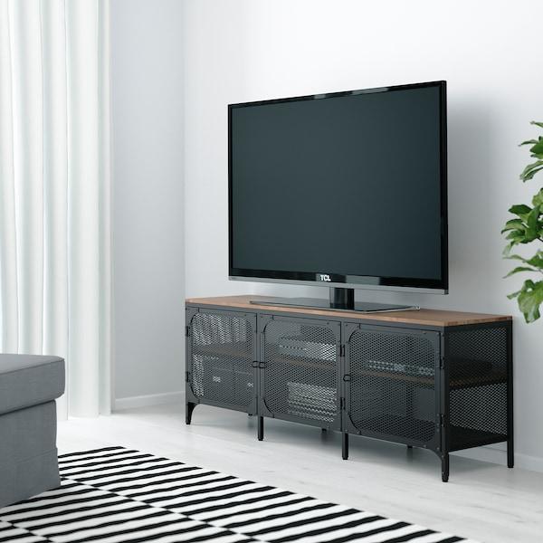 耶伯 电视柜, 黑色, 150x36x54 厘米