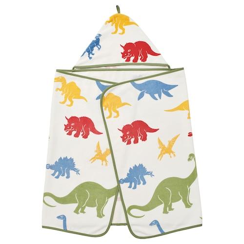 耶特里克 浴巾带有兜帽, 恐龙/多色, 140x70 厘米