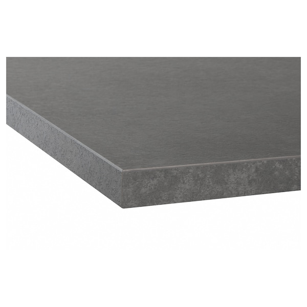 宜伯肯 操作台面, 仿混凝土效果/层压板, 186x2.8 厘米