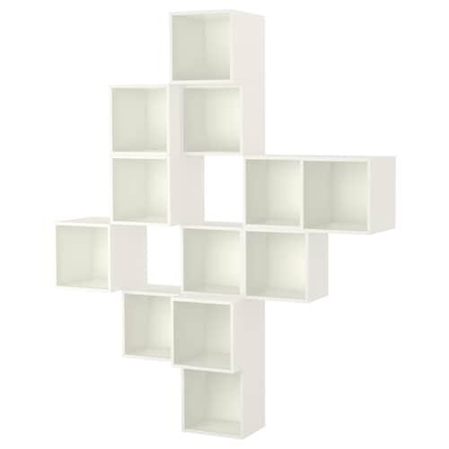 伊克特 壁柜组合, 白色, 175x35x210 厘米
