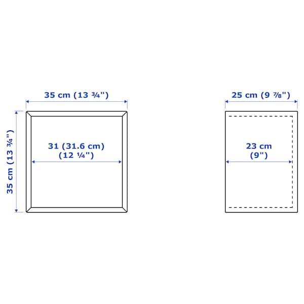 伊克特 壁装搁板组合, 淡灰色/白色, 105x35x70 厘米