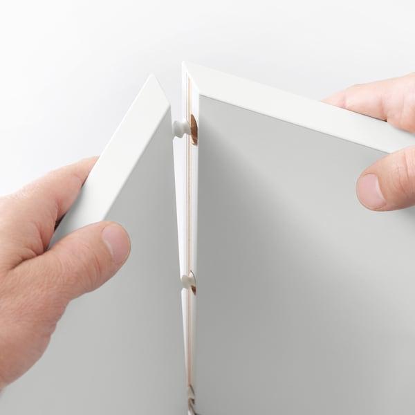 伊克特 橱柜双门/双搁板, 白色, 70x25x70 厘米