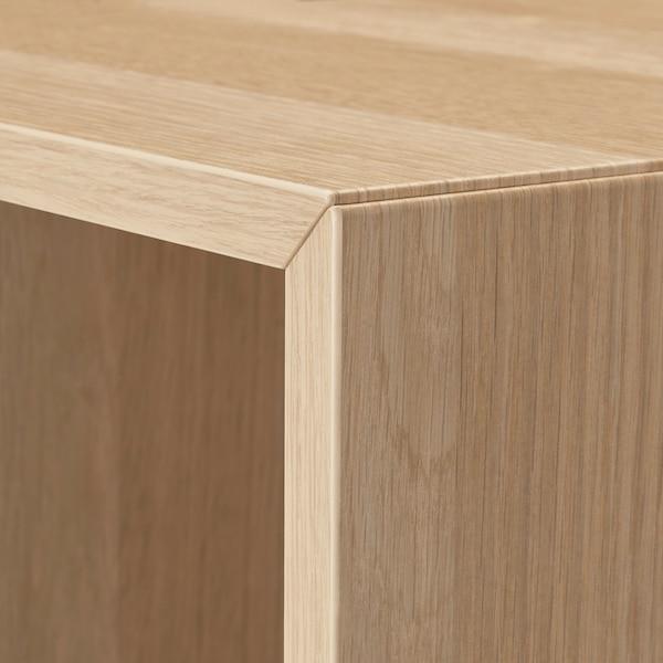 伊克特 带支脚橱柜组合, 白色/浅灰色/仿白色橡木纹, 70x25x72 厘米