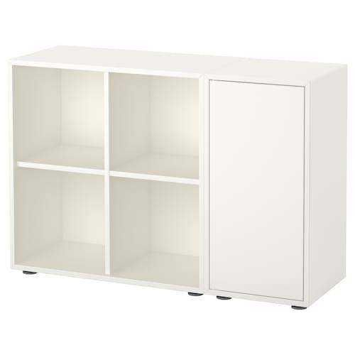 伊克特 带支脚橱柜组合, 白色, 105x35x72 厘米