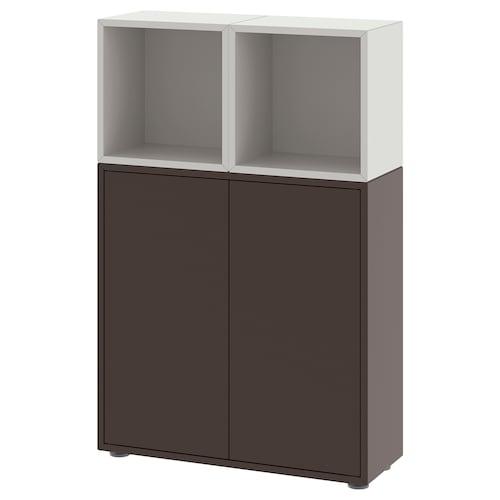 伊克特 带支脚橱柜组合, 深灰色/淡灰色, 70x25x107 厘米