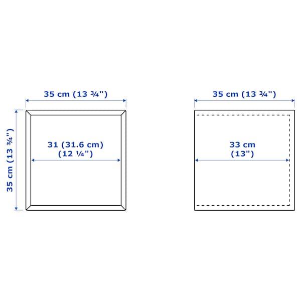伊克特 柜子, 淡灰色, 35x35x35 厘米
