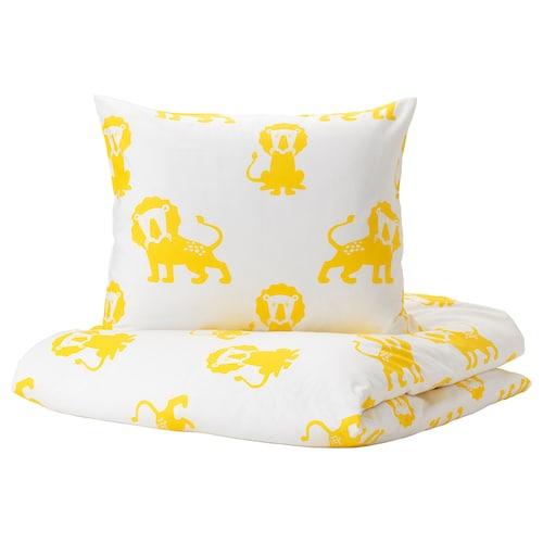 尤恩格斯库格 被套和枕套, 狮子/黄色, 150x200/50x80 厘米