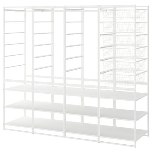 尤纳赛尔 框架/篮/挂衣杆/搁架单元, 198x51x173 厘米