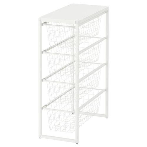 尤纳赛尔 框架/网篮/顶层搁板, 白色, 25x51x70 厘米