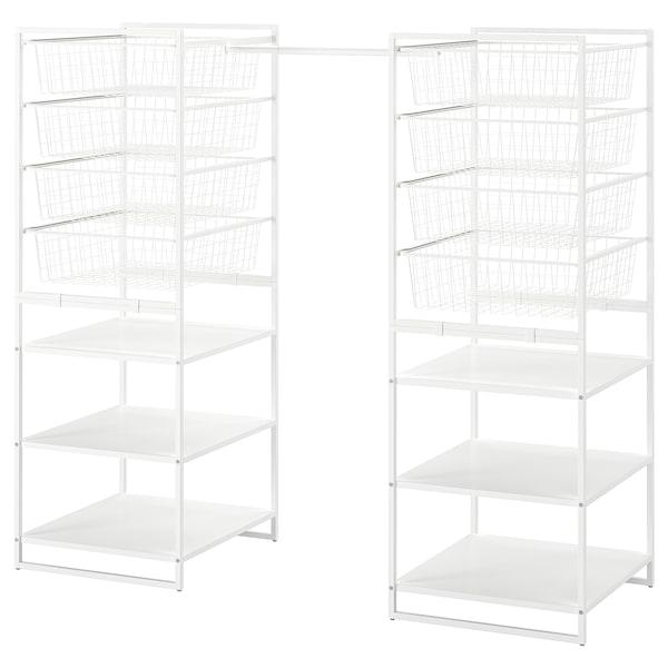 尤纳赛尔 框架/网篮/挂衣杆, 白色, 142-178x51x139 厘米