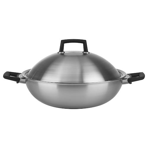 约维莱特 带盖中式炒菜锅, 不锈钢, 32 厘米