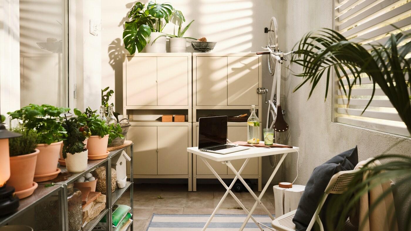 巧用储物技巧扩大户外空间。