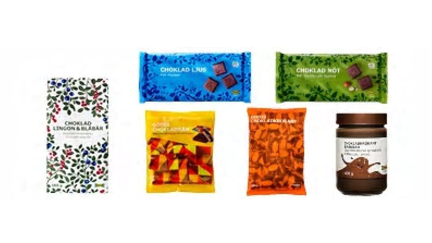"""2016-07-28 14:00  宜家提醒已经购买任意一件或多件涉事巧克力产品的消费者,这些产品因含榛子和/或杏仁,不适合对此过敏原过敏或敏感的消费者,并因此被召回。  介于含榛子和/或杏仁可能会引起过敏反应,除了正处于召回之中的巧克力外,宜家再召回6款巧克力产品。  产品安全和质量是宜家的第一要务,全球所有尚处于最佳食用日期的涉事产品都在召回之列。  涉事巧克力产品已经多次且非偶然地检测出含有榛子和杏仁,表明此类巧克力产品不适合对此过敏原过敏或敏感的消费者。  产品标签中仅标示""""可能含有……""""字样,对产品中的高频出现并未做出足够清晰的说明。产品标签上的产品信息可能会误导消费者,因此不符合一些市场的法律法规。为了符合宜家的质量和安全高标准,所以不论我们市场上的法律法规如何,我们决定在全球召回涉事产品。  对杏仁和/或榛子不过敏的人均可安全食用涉事产品。宜家尚未收到因新增的6款召回巧克力产品引起过敏反应的事故报告。  存在顾虑的顾客可以携带涉事产品到最近的宜家商场瑞典食品屋退货并领取全额退款。  对于因此可能给您带来的不便,我们深表歉意。  更多信息,请拨打宜家免费电话: 400-800-2345。     另外6款处于召回之中的涉事巧克力产品 及销售日期  古德牛奶巧克力(巧克力制品)450g GODIS CHOKLADKROKANT 450g  最佳食用日期内  牛奶巧克力排100g CHOKLAD LJUS UTZ 100g  最佳食用日期内  榛仁牛奶巧克力制品100g CHOKLAD NÖT UTZ 100g  最佳食用日期内  越桔蓝莓味巧克力180g CHOKLAD LINGON & BLÅBÄR 180g  最佳食用日期内  古德巧克力威化饼干168g GODIS CHOKLADRÅN 168g  最佳食用日期内  巧克力味调味酱400g CHOKLADKROKANT BREDBAR 400g  最佳食用日期内"""