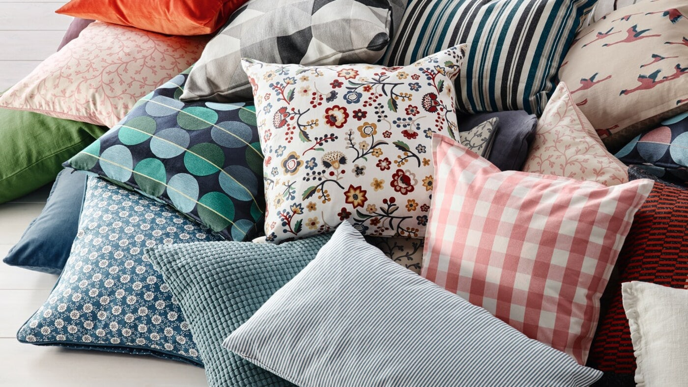 Tips for refreshing your home with new cushions and cushion covers.