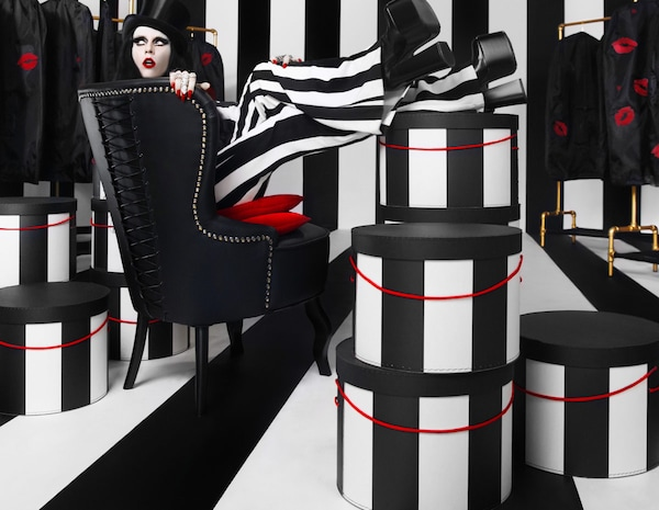 A hybrid between Goth and Hollywood glamour, IKEA OMEDELBAR limited edition collection offers everything to create the feeling of an of exclusive dressing room.