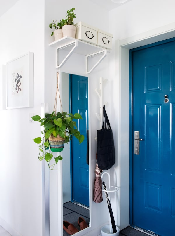 Add a storage station by the front door.