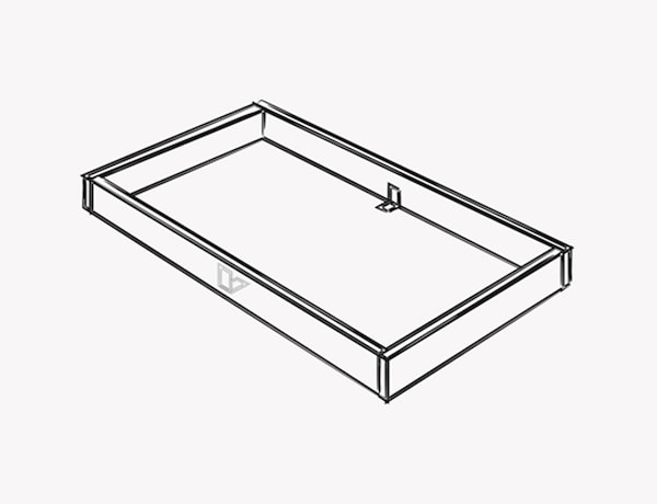 An illustration of hof to build the frame for the kitchen island.