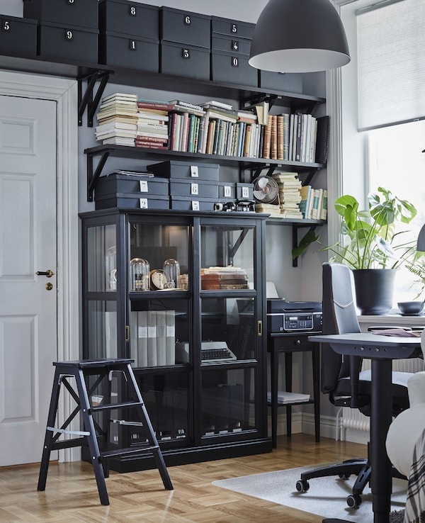 Arrange office storage with high use items closest to your workspace.