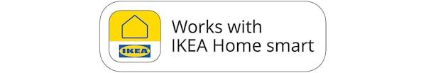 表明可与宜家家居智能应用程序搭配使用的徽章。